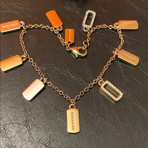 NWT COACH Tri-Color Charm Bracelet